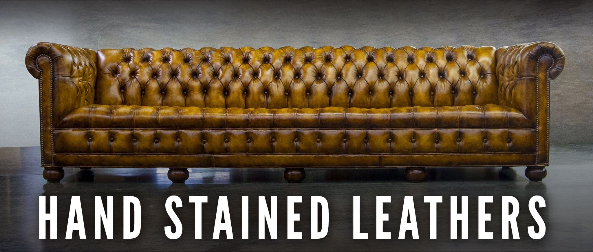 Hand Stained Leather Chesterfields From 'of Iron & Oak'