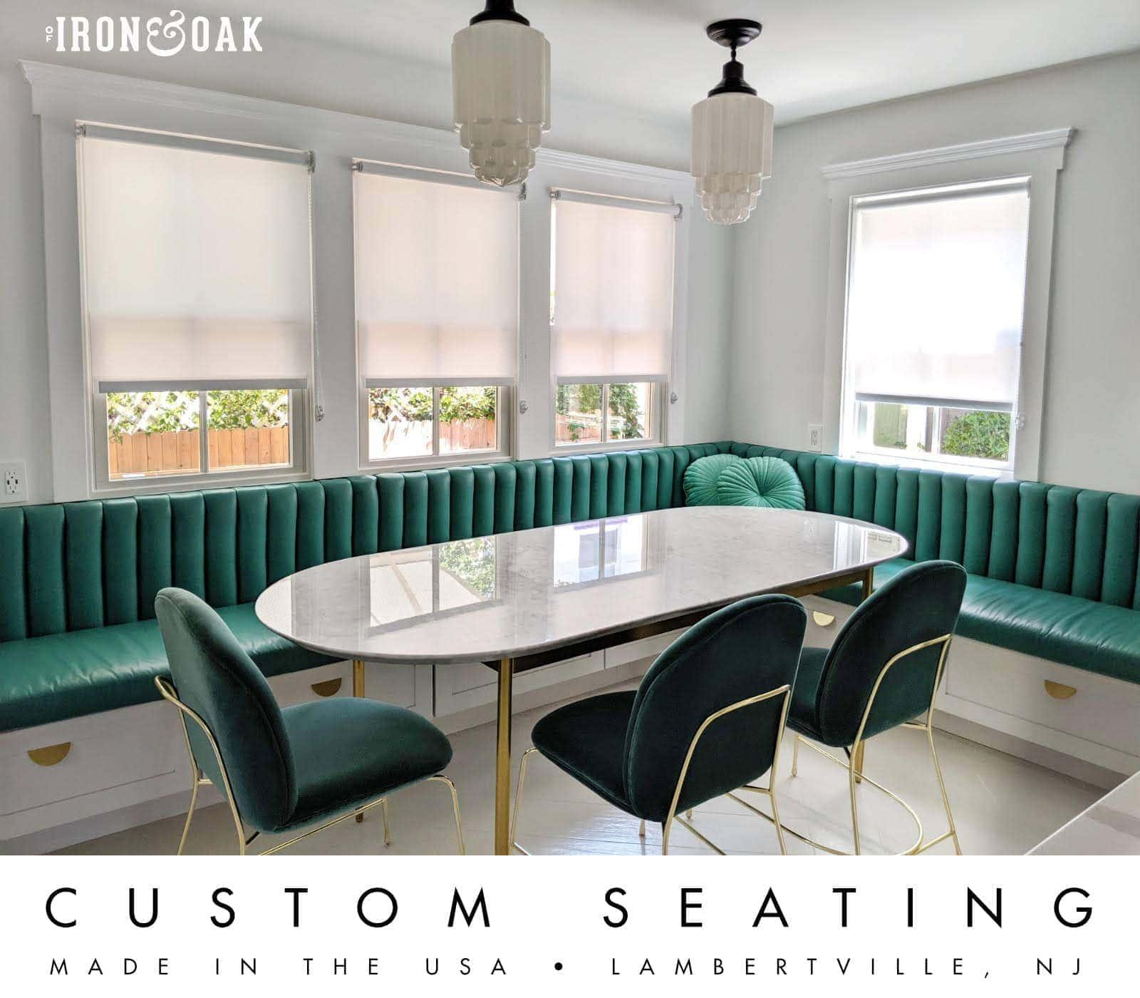 of Iron & Oak Custom Seating Kitchen