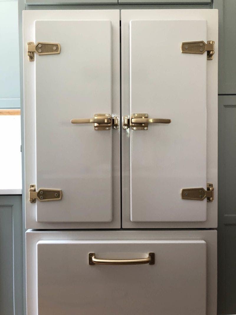 Big Chill Classic White Enamel Refrigerator