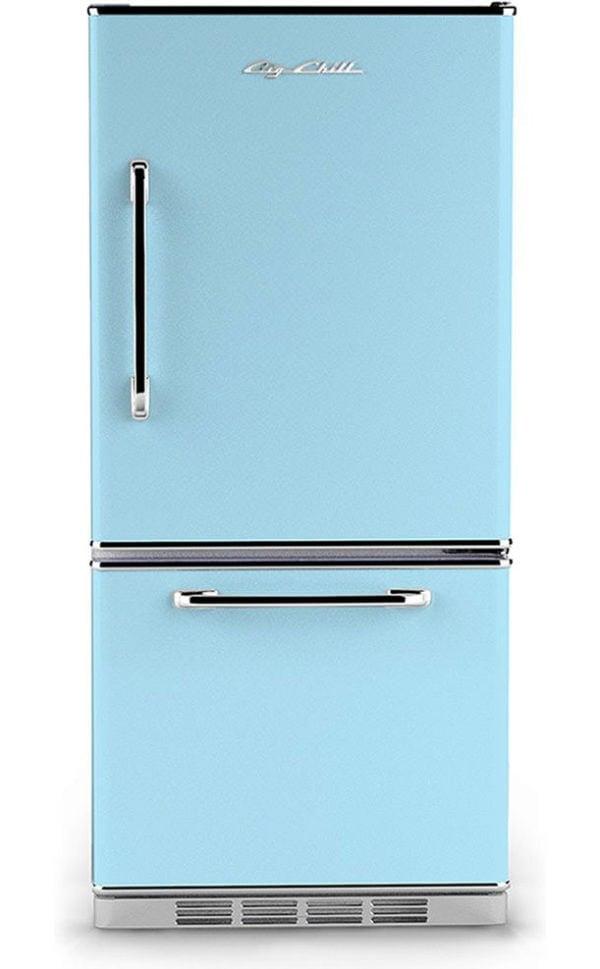 Big Chill Retro Baby Blue Refrigerator