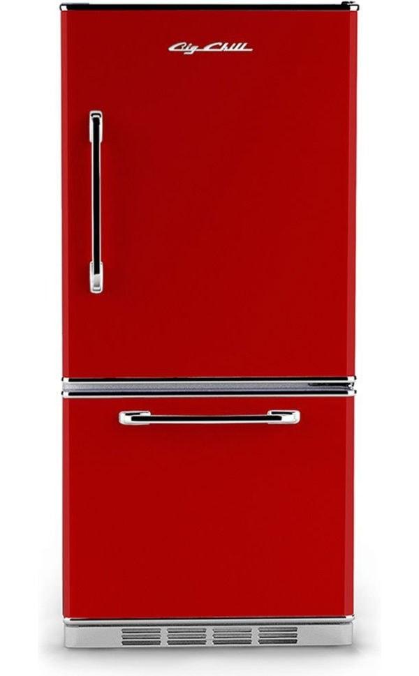 Big Chill Retro Cherry Red Refrigerator