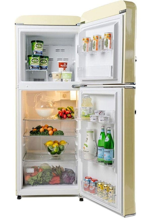 Big Chill Retro Cream Slim Refrigerator
