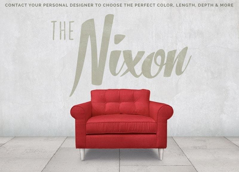 Nixon Low Profile Mid-Century Roll Arm Chair