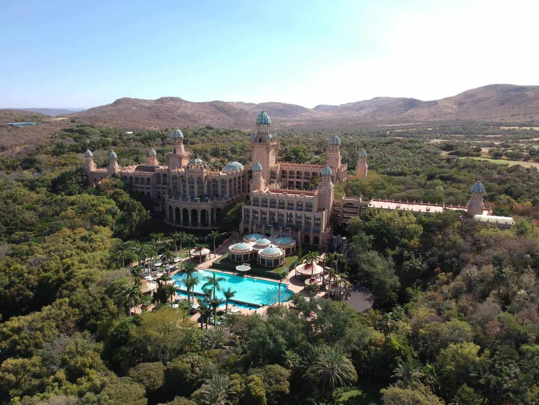 Vista aerea do Sun City, na Africa do Sul