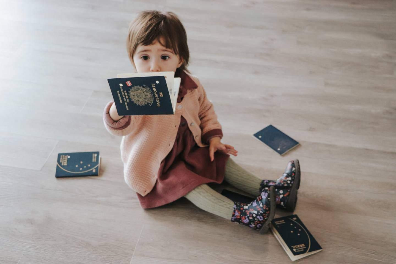 Passaporte para bebes e crianças