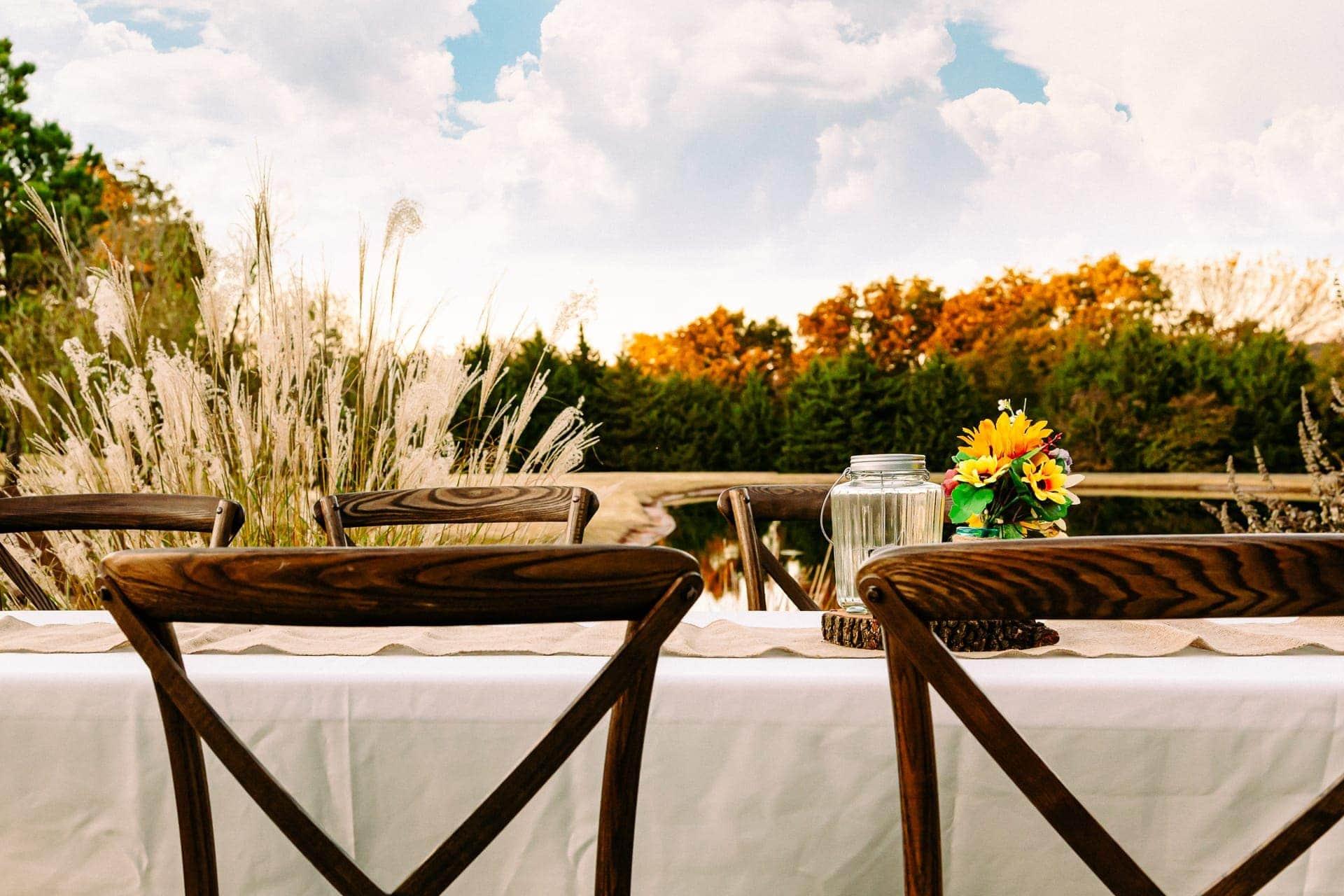 Party table at Esperanza Ranch