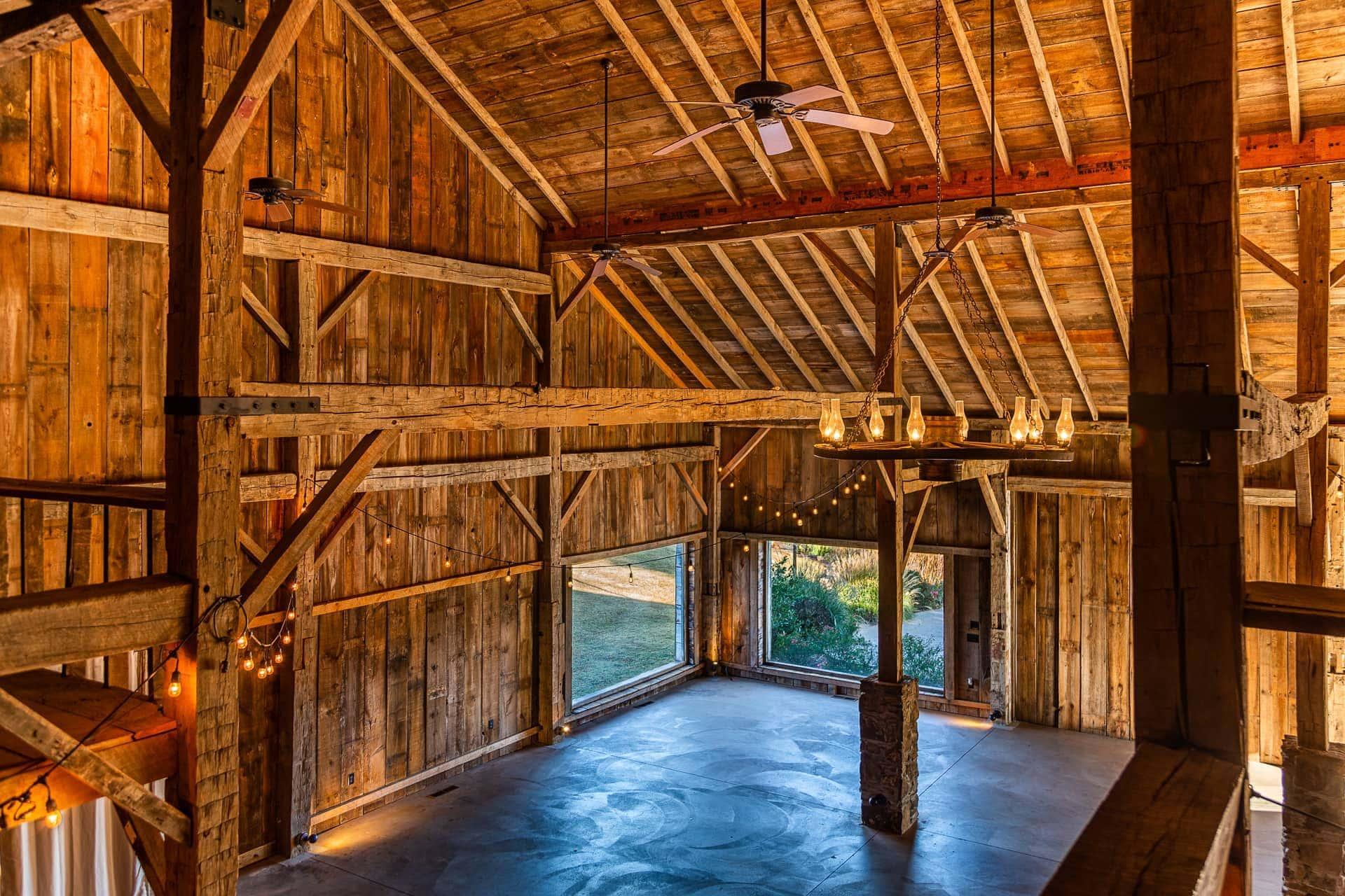 Interior of the Barn at Esperanza Ranch