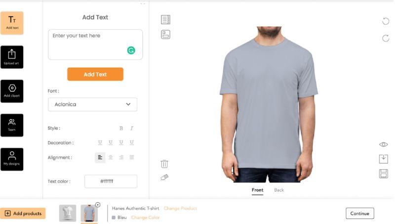 Allada custom shirt designer.