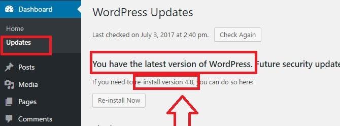 current version of wordpress