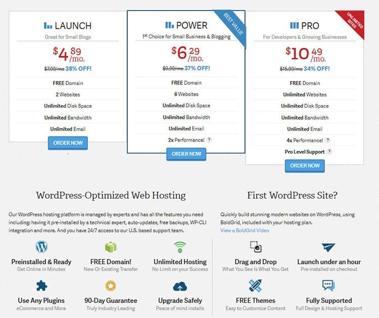 inmotion wordpress hosting discount price