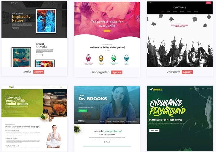 astra theme pro starter sites