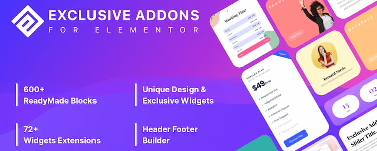 Exclusive Addons for Elementor review.