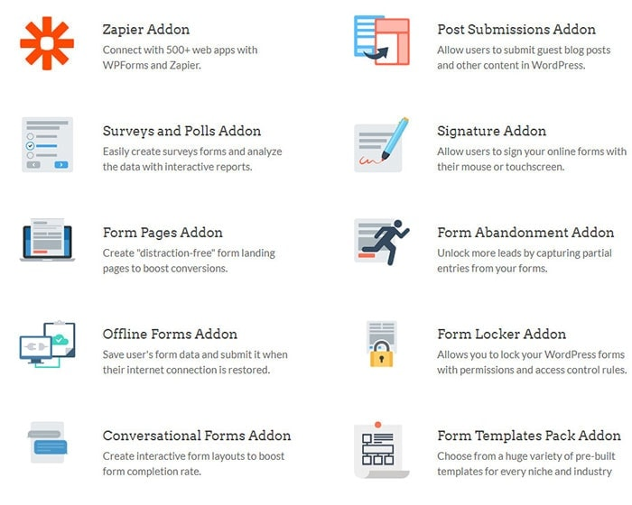 post submissions addon wpforms