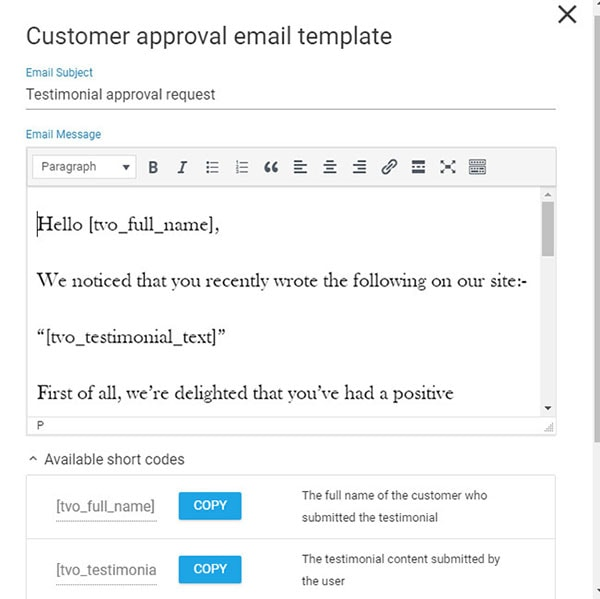customer approval email template