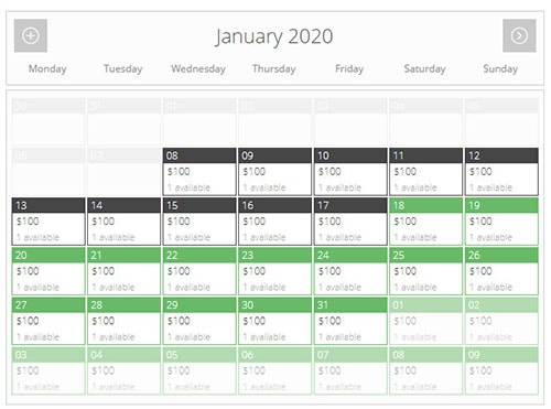 pinpoint booking system booking calendar