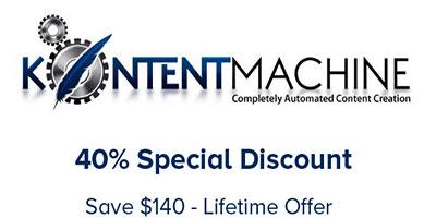 kontent machine discount coupon