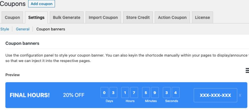Smart Coupons discount banner.