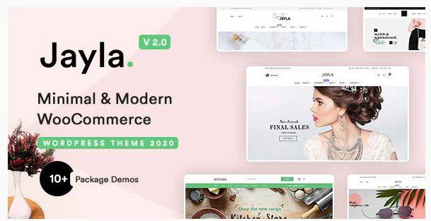 Jayla minimal and modern multi-concept WooCommerce theme.