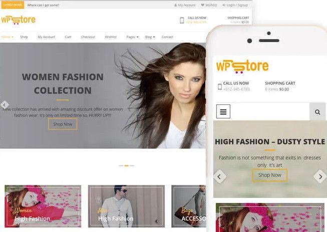 WP Store best free WooCommerce store WordPress theme.