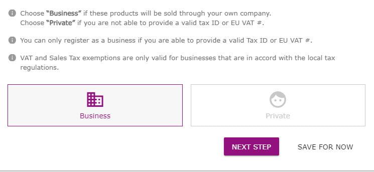 dropshippingXL register reseller account.