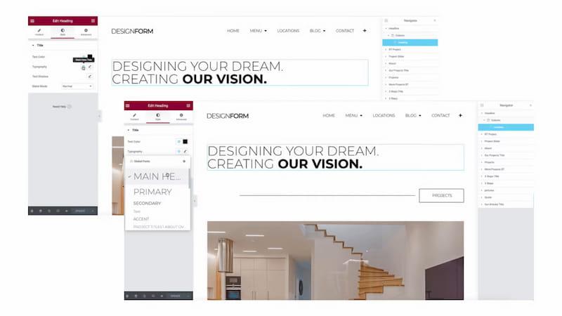 Elementor full website kits.