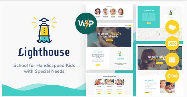 WordPress theme for school for kids with disabilities and special needs.