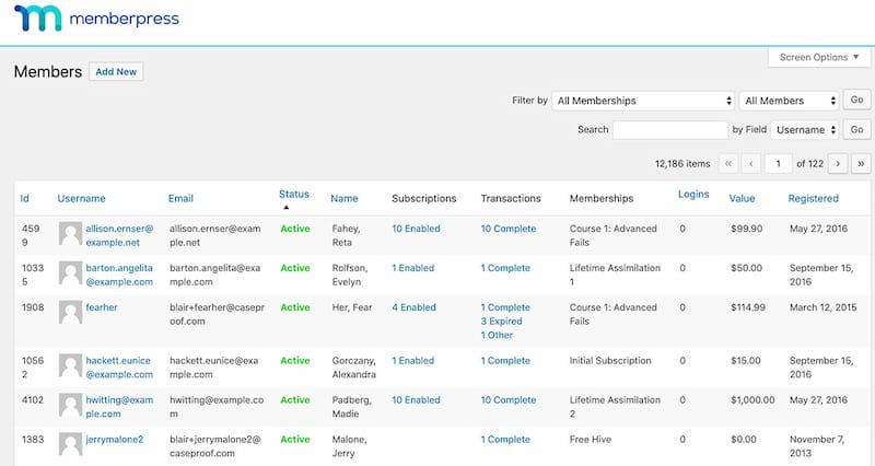 MemberPress features.
