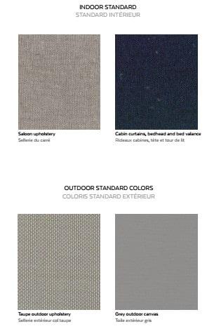 Exterior Fabric choices for Saba 50, Fountaine Pajot