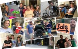Garage sale collage