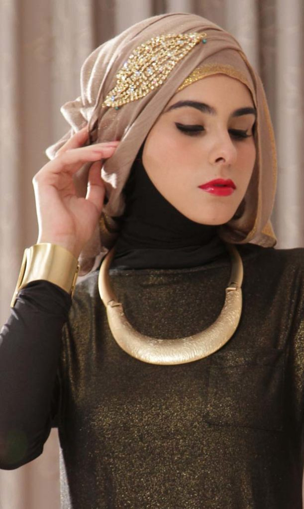 how to wear hijab for party
