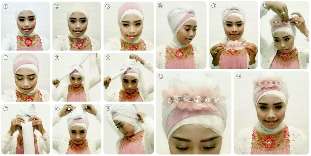 simple hijab styles for weddings