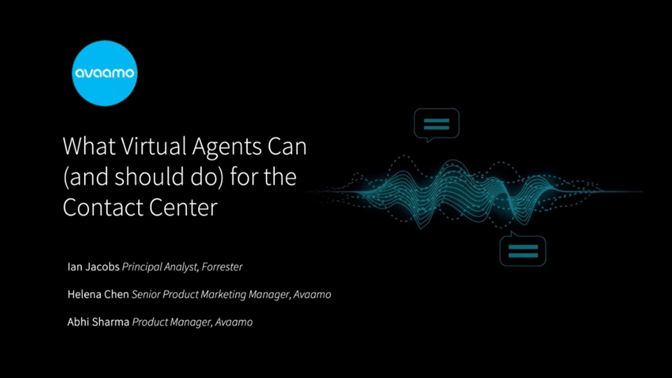 Virtual agents and conversational AI