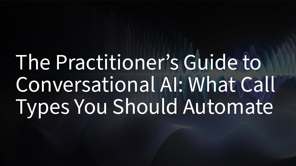 Conversational IVE for automating call types