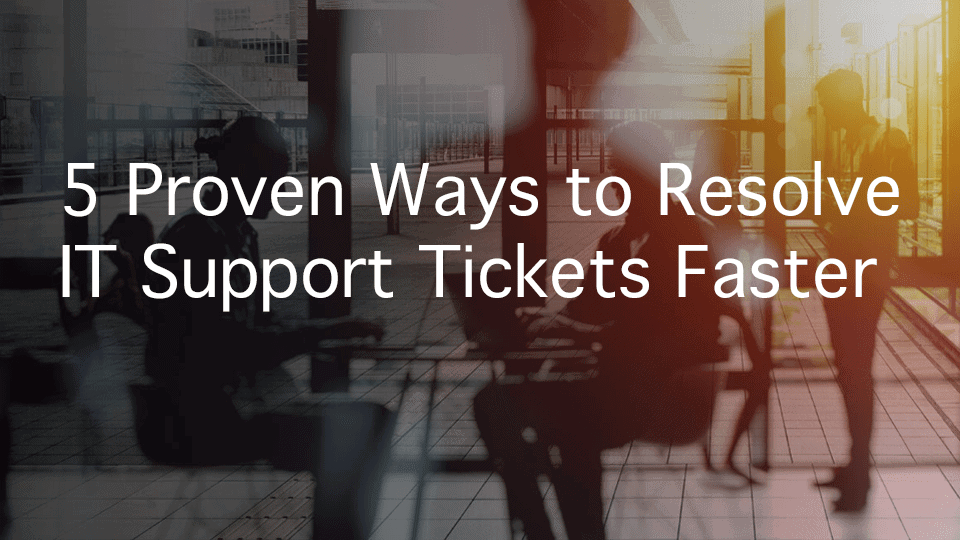 How to resolve IT support tickets using Conversational AI