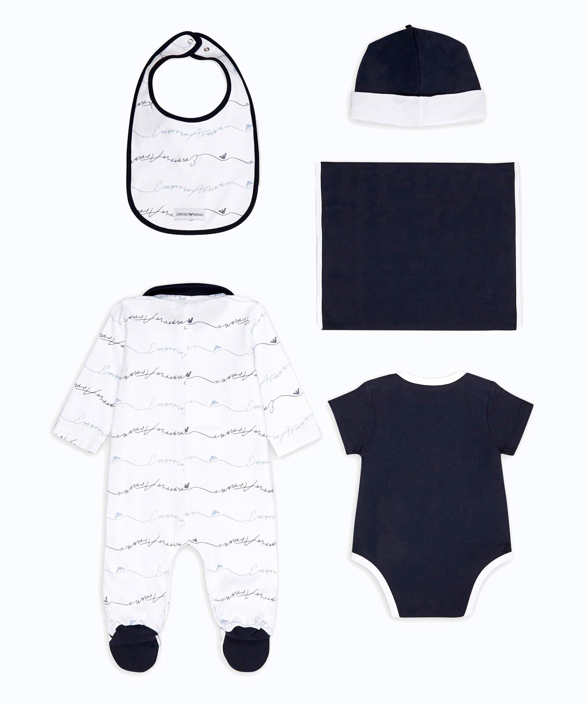 """Babyshop - 5-teiliges Emporio Armani Geschenkset """"New Born Essentials"""""""