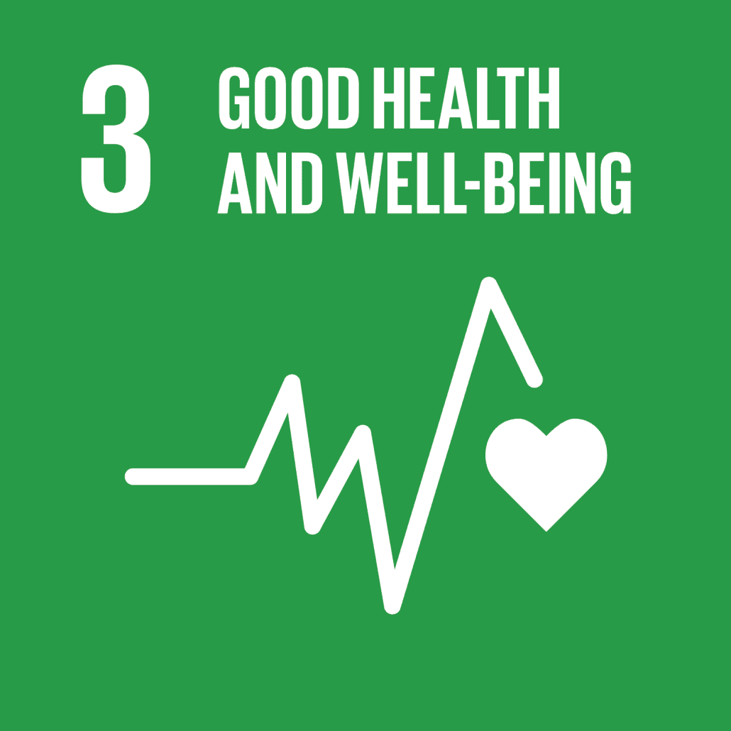 Information on project aiming to reach Sustainable Development Goal 3: Good health and well being.