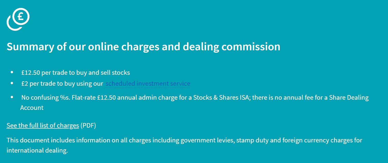 halifax share dealing fees