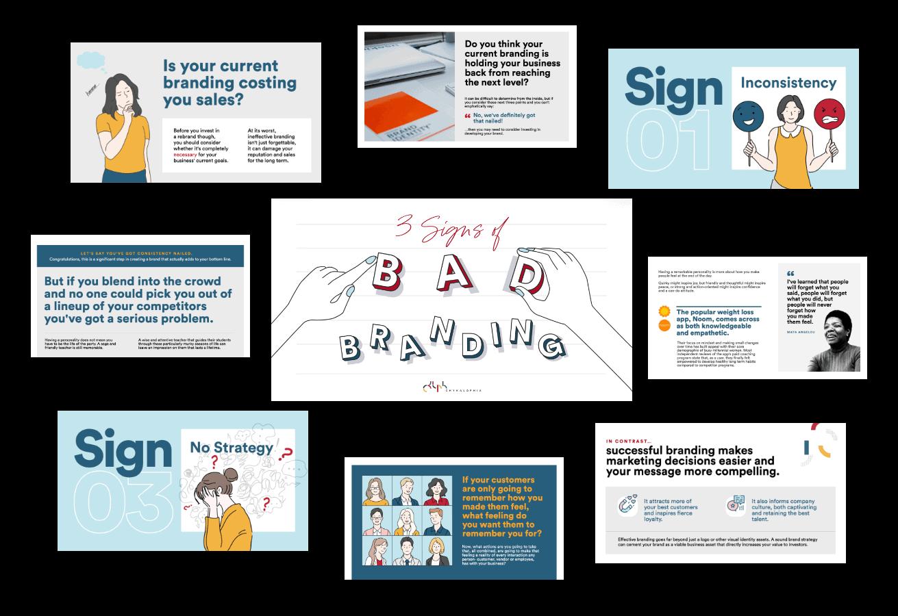 3 Signs of Bad Branding Deck & Worksheet