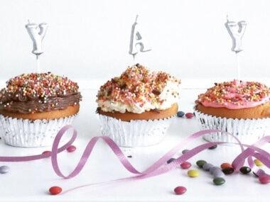 happy birthday cupcakes - facebook size