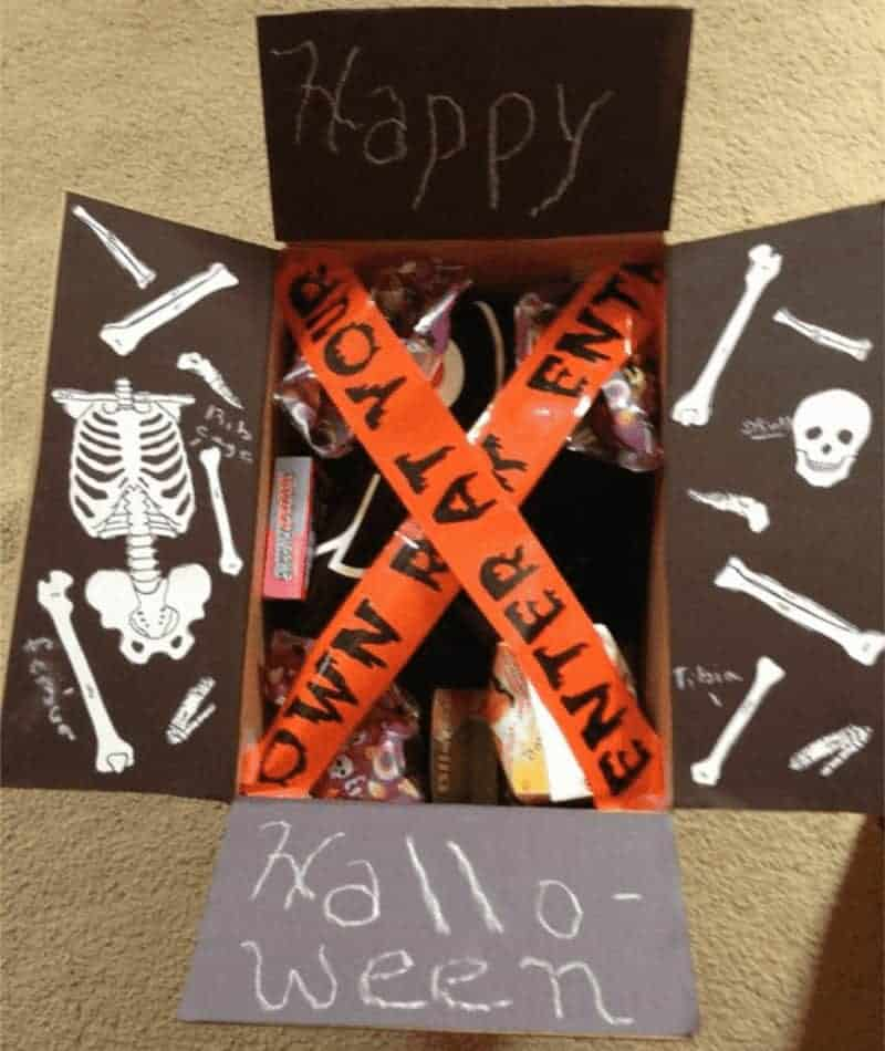 Halloween care package for college