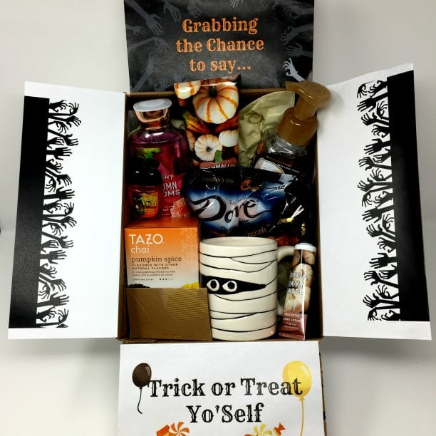 trick or treat yourself Halloween care package for college