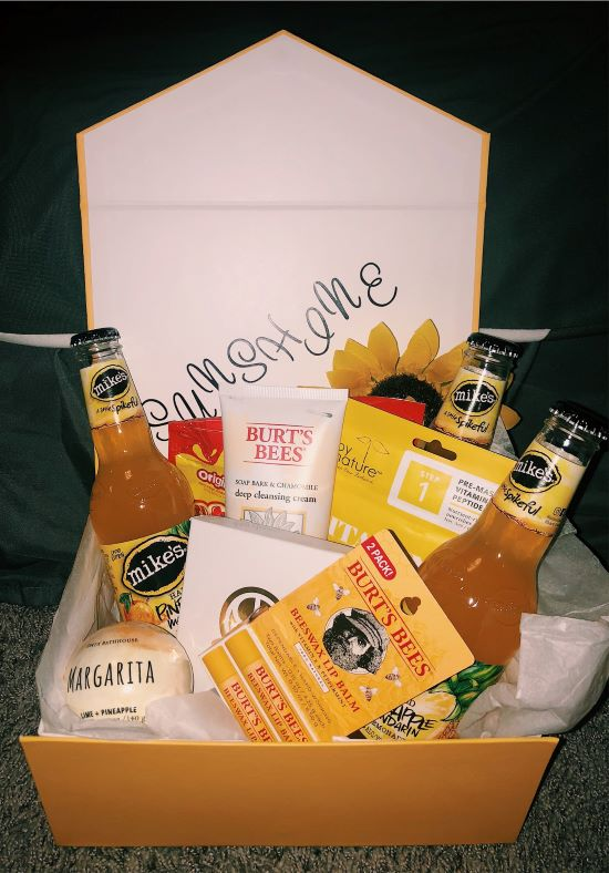 gift box with the words sunshine written on the inside