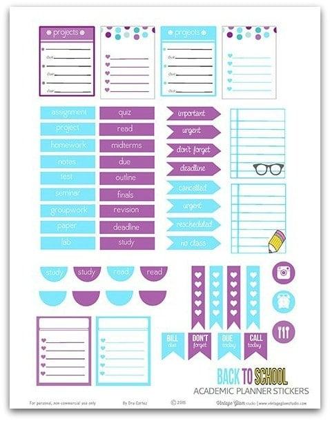 bujo stickers free to print