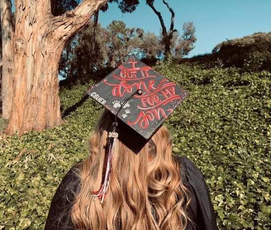 """""""I got it done for my son"""" grad cap"""