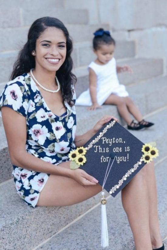 single mom graduation cap for daughter