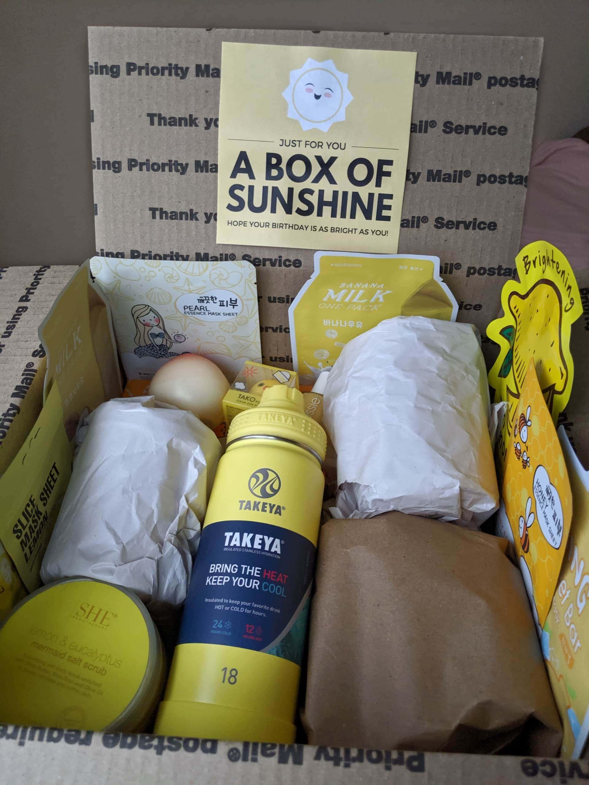 a box of sunshine + cute printable