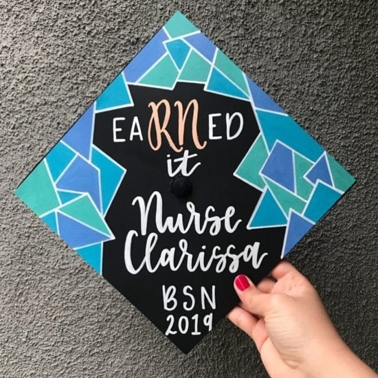 eaRNed it nurse clarissa - grad cap decoration