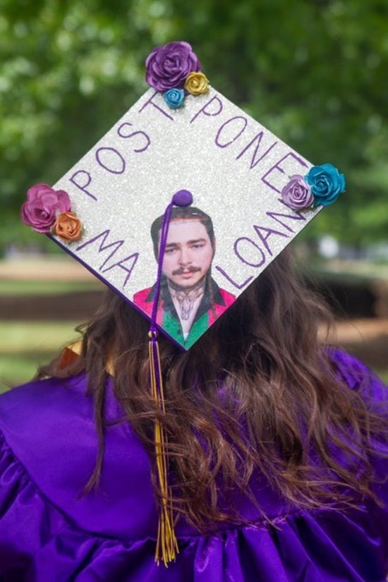 post malone graduation cap topper idea