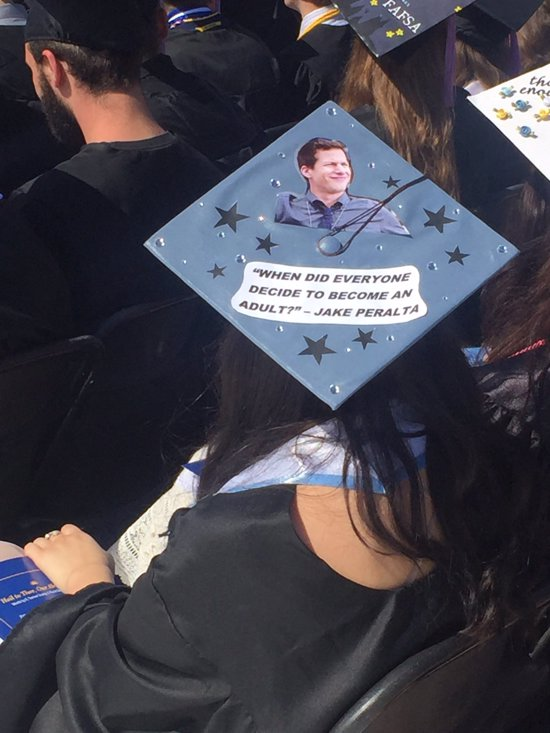 jake peralta quote grad cap design