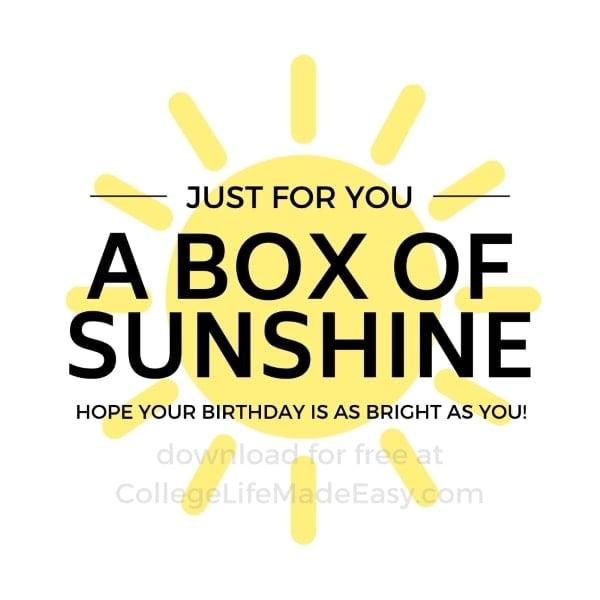 free printable for a sunshine box example 6
